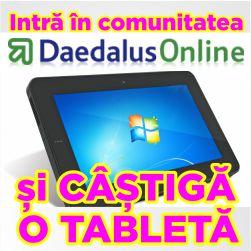 Sondaje de opinie Daedalusonline.ro - poți câștiga o tabletă. Înscrie-te gratuit !