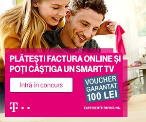 Plătește online factura Telekom și poți câștiga un Smart TV