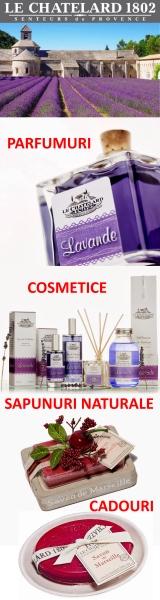 Imagine cu reclama săpunurilor şi parfumelor deosebite Le Chatelard. Click pentru detalii şi cumpărare