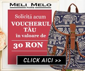 Voucher 30 de lei pentru achiziția unei genți pe Meli Melo !